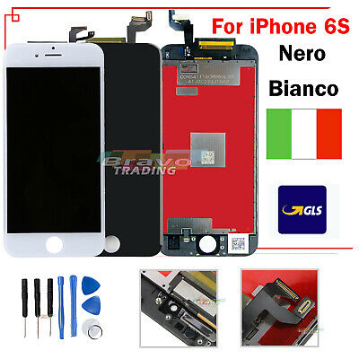 Nero Bianco Per Apple Iphone 6S Touch Screen Lcd Display Schermo & Frame Vetro