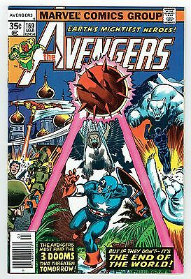 Avengers #169 Marvel Comics Bronze Age 1977 VF+ High Grade Captain America More