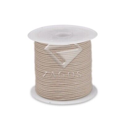 1 Roll 10M Real Leather Cord Thread Beading Jewellery Bracelet 1x1mm Off White