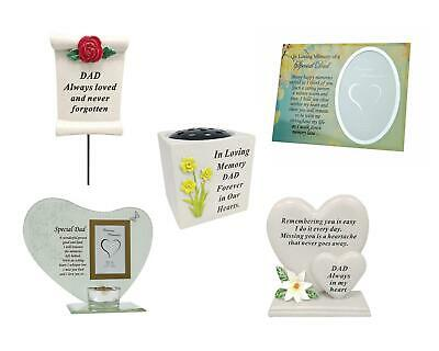 Special Dad Father's Day Ornament Tribute Memorial Vase Photo Frame Graveside