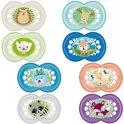 MAM Nature - Soother Twin Pack - 6m+ (CHOICE OF DESIGN - BOYS/GIRLS) (A112)