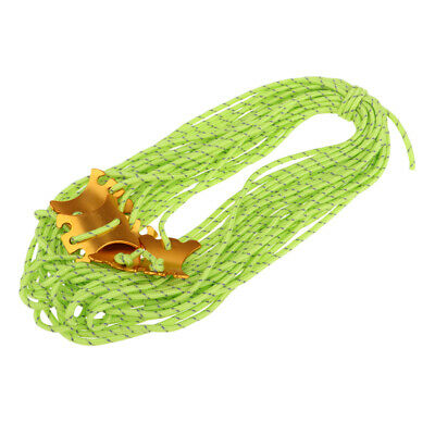 Tent Guy Line Rope Reflective Camping Tent Guide Cord Packaging Line Green