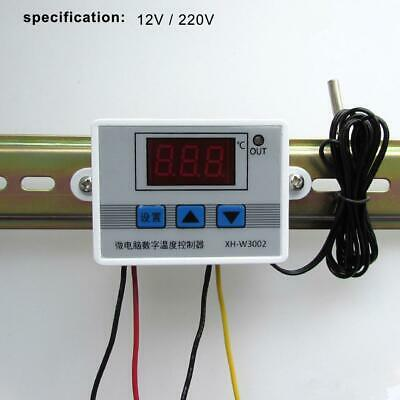 12/220V Digital Temperature Controller Thermostat Control Switch Probe 10A AL