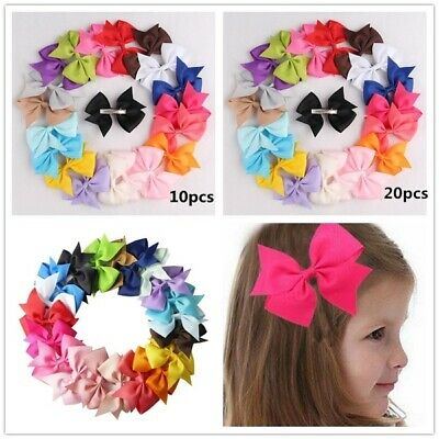 20pcs 10 Pairs Baby Girls Hair Bows For Kids Hair Bands Alligator Hair Clips