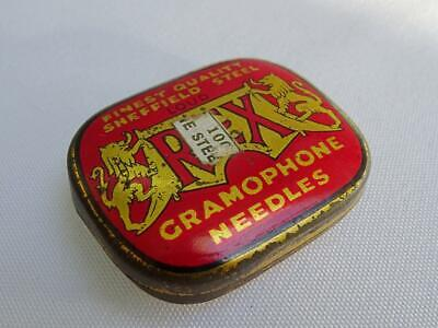 Vintage Gramophone Needle Tin Rex Advertising 1930s Original Contents