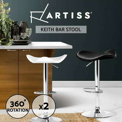 【20%OFF】Kitchen Bar Stools Swivel Bar Stool Leather Gas Lift Chairs Black White