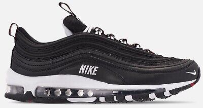 low priced 86e1d 97df2 Nike Air Max 97 Premium Mens 312834-008 Black White Red Running Shoes Size  13