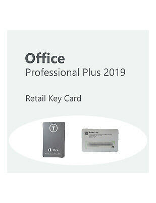Microsoft Office 2019 Professional Plus 2019 Retail Key Card