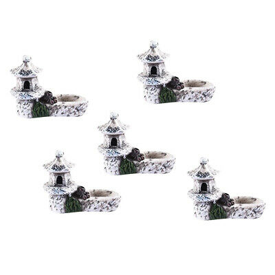 5pc DIY Mini Miniature Fairy Garden Ornament Tower Gray Dollhouse Accessory