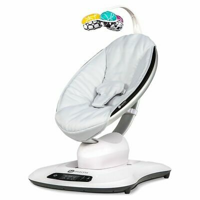 4moms MamaRoo 4 Infant Seat Swing - Classic Gray Complete in Box - FREE Shipping