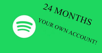 Spotify Premium [24 Months] - YOUR OWN ACCOUNT!