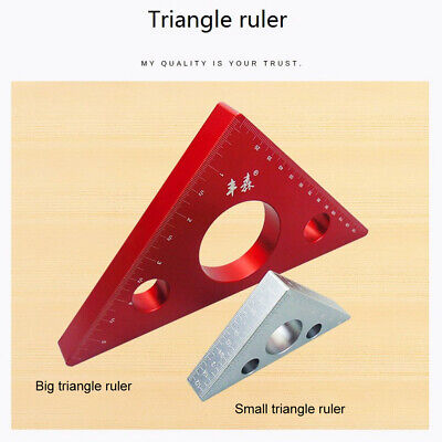 Portable Right Angle Ruler DIY Woodworking Triangle Ruler Measuring Gauging Tool