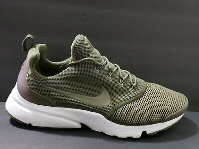best website c2814 ff468 NIKE AIR PRESTO Fly Mens Size 12 Running Shoes Olive Green White 908019 201