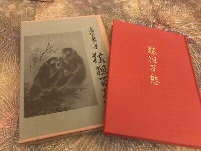 RARE Antique Painting Japanese MONKEY (Saru) Art Book Tattoo Reference From 60s
