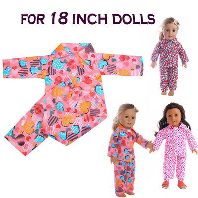 Pajamas Nightgown Clothes For 18 Inch American Doll Accessory Girl's Toys Dolls