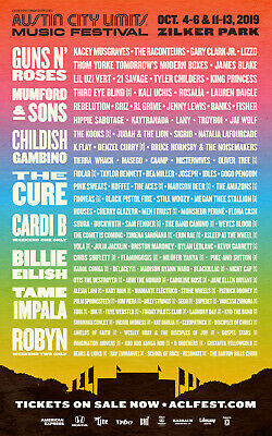 AUSTIN CITY LIMITS 2019 BACKSTAGE ALL ACCESS PASSES WEEKEND 1 Or 2 ACL FESTIVAL