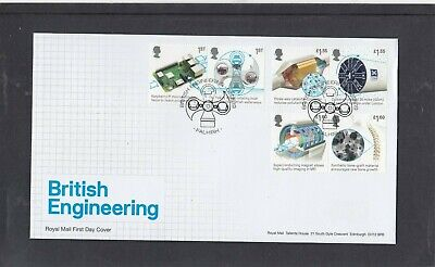 GB 2019 British Engineering Royal Mail FDC First Day Cover Falkirk special pmk
