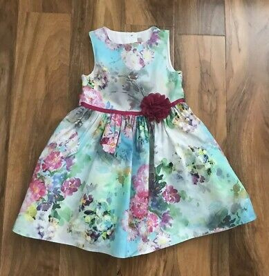 BNWT NEXT 2-3-4-5-6 years girls FLORAL SUMMER DRESS BLUE*PINK OR YELLOW SPOTTED