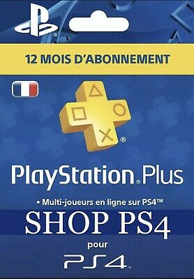 Abonnement Playstation Plus 12 Mois (LIRE DESCRIPTION) - PS4