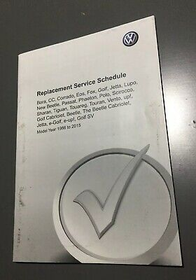 Unused Vw Blank Service History Book Cc Eos Golf Beetle Phaeton Touareg Touran