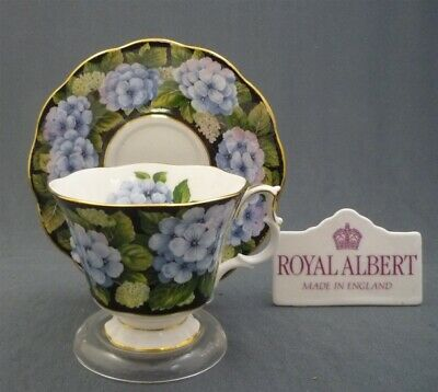 Royal Albert England Bone China BOUQUET SERIES Hydrangea Tea Cup & Saucer