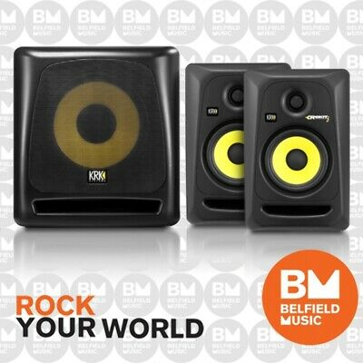 """KRK ROKIT 5 G3 + Sub Package (2 x RP5G3 Monitors and 1 x 10"""" Studio Subwoofer)"""