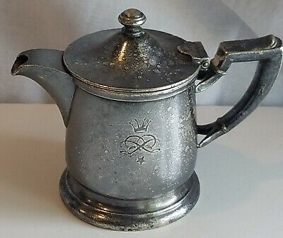 PARK PLAZA HOTEL St. Louis Teapot Creamer Property IS Silver Soldered Antique