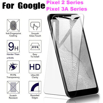 For Google Pixel 2 3 3A 3AXL 9H Premium Cover Tempered Glass Screen Protector TA