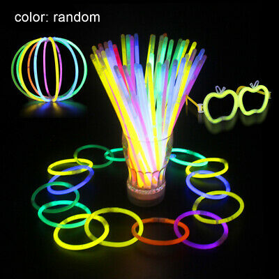 100Pcs Colorful Glow Stick Light Bracelets Party Festival Christmas Party