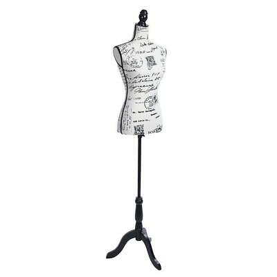 Female Mannequin Torso Dress Form Display W/ Black Tripod Stand Letter Style