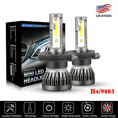 CREE COB H4 9003 225000LM 1500W LED Headlight Kit Hi/Lo Beam Bulbs 6000K White