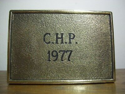 "VERY RARE ORIGINAL 1977 ""CHiPs"" (ERIK ESTRADA) CHP BRASS CAST/CREW BELT BUCKLE!"
