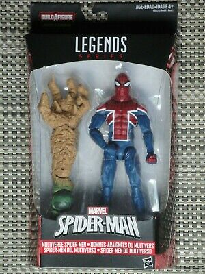MARVEL LEGENDS Spider-Man costume noir de Sandman BAF Series loose /& complete!