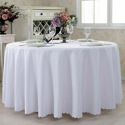 White Plastic Table Cloth Round Cover For Wedding Birthday Party Tablecovers New