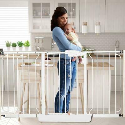 Pet Safety Gate Door Pet Fence Baby Barrier Walk Through Toddler Guardrail Fence
