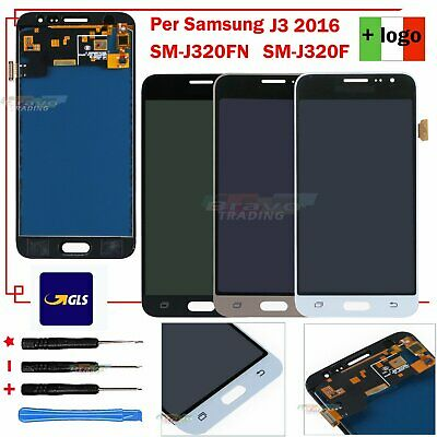 Per SAMSUNG GALAXY J3 2016 SM-J320FN J320 J320F DISPLAY LCD +TOUCH SCREEN VETRO
