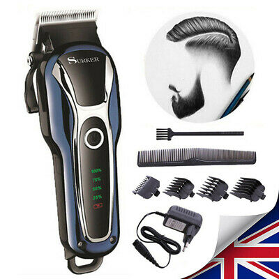 Professional Men Electric Hair Trimmer Clipper Shaver Barber Haircut LCD Machine