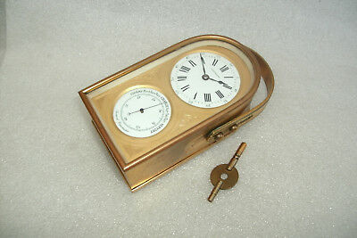 Finnigans Gilded  Carriage Clock / Barometer