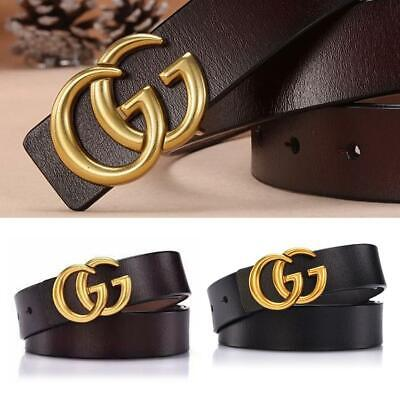 Ladies Double G Alloy Buckle Leather Material Durability With Thin Belt 3.4cm AU