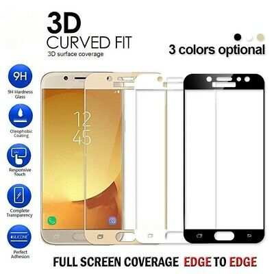 3D Full Cover Tempered Glass Screen Protector For Samsung Galaxy A5 A7 A6 A8 Dr