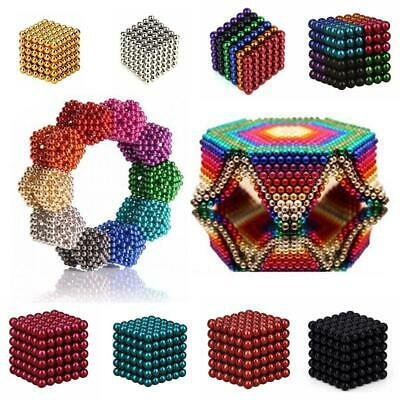 216pcs 3mm/5mm Magnet Balls Magic Beads 3D Puzzle Ball Sphere Magnetic Cube