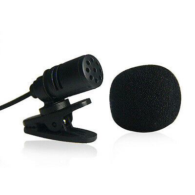 Portable Clip-on Lapel Mini Lavalier Mic Microphone 3.5mm Lecture Meeting Teach