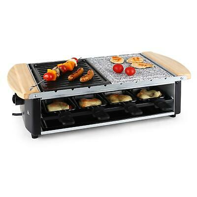 Appareil A Raclette 8 Poelons Et Brochettes Grill Anti Adhesif + Pierrade 1200W