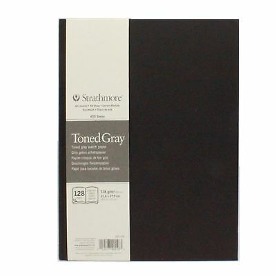 Artists sketch pad toned gray art journal art book grey drawing paper Strathmore