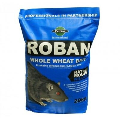 20 kg Roban rat poison - loose grain rodent killer / VARIOUS PACK SIZES