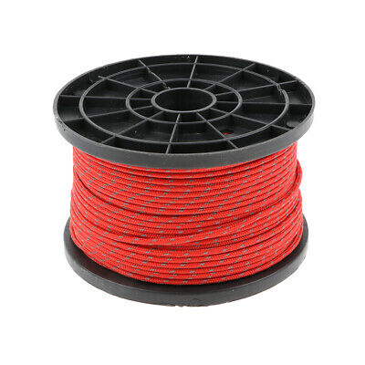 Outdoor Reflective Camping Awning Cord Paracord Tent Reel Roll Guy Rope Line
