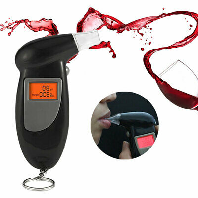 LCD Digital Alcohol Breath Analyzer Breathalyzer Tester Detector Test Key Chain