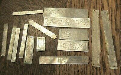 Chinese Carved  Mother Of Pearl 15 Various  Floral Panels