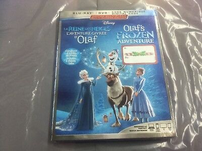 Disney Olaf's Frozen Adventure  ( Blu-Ray + Dvd+Digital Code ) Brand New Sealed