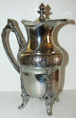 Victorian Ornate Aesthetic Etruscan Silver Plated Syrup Pitcher